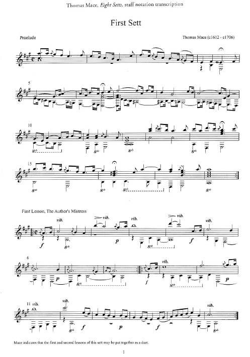 Baroque Lute Music for Guitar Guitar Sheet Music CD Instrumental Album